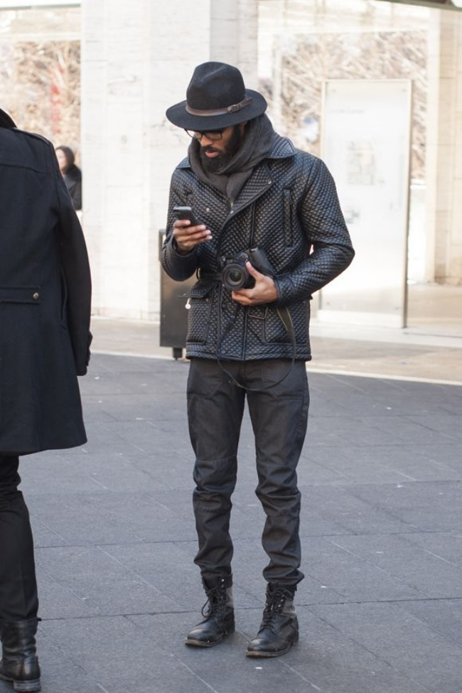 moda masculina - All black 3
