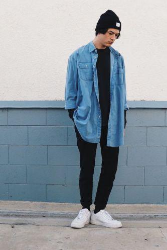 looks masculinos minimalista monocromatico - moda masculina - lucas maronesi 19